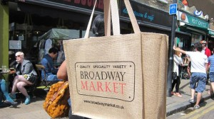 Broadway Market bag in Hackney
