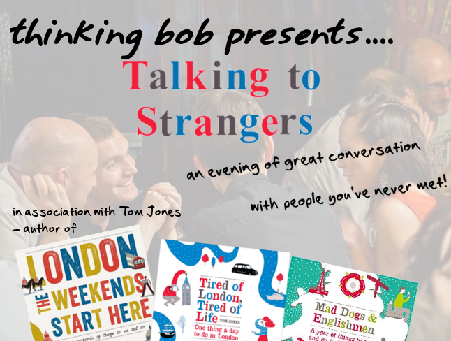 Talking to strangers with thinking bob logo