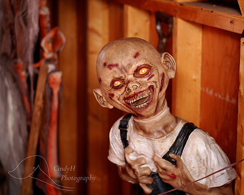 Scary Halloween puppet: creepy Halloween photos