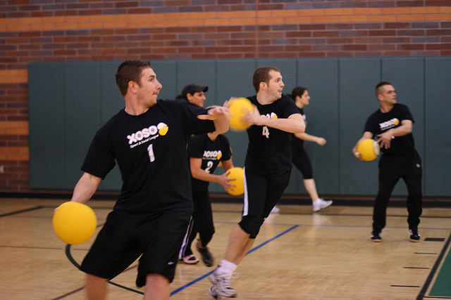 what is a sport defending dodgeball In the past, a dodgeball game was most often played on playgrounds and in school gymnasiums it is now a professional sport with leagues, championships and professional players.