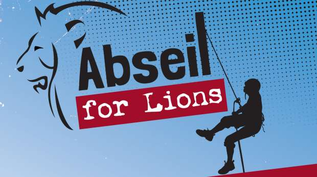 abseil for lions