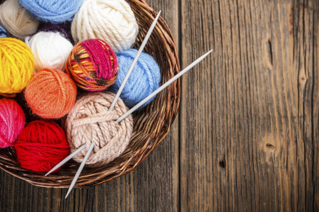Knitting balls of yarn