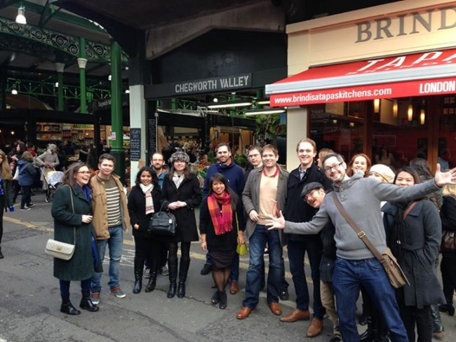 Trip to Borough Market - meet new people in London