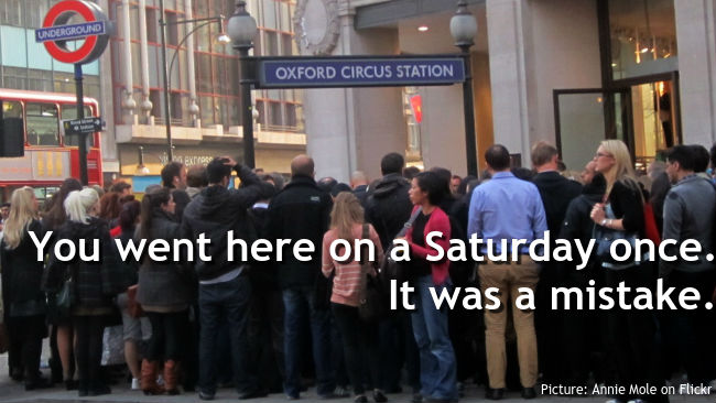 Oxford Circus crowds (Picture credit: Annie Mole on Flickr)