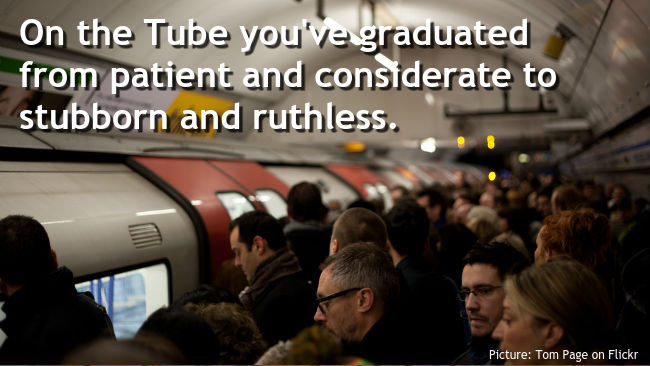 London Underground commuters (Picture credit: tom page on Flickr)