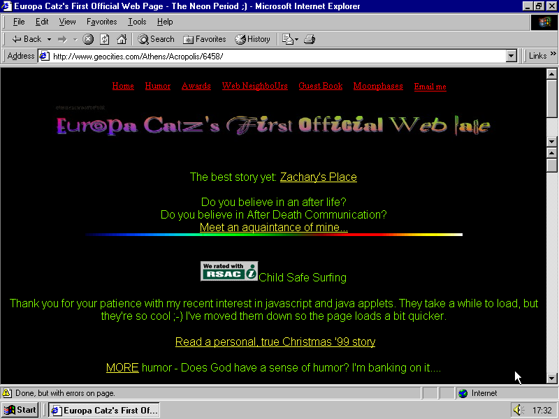 Geocities website