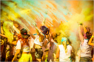 Colour obstacle run