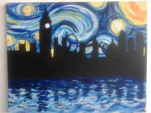 Paint Starry night over London with PopUpPainting @ Davy's | London | United Kingdom