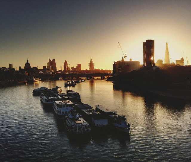 Waterloo Bridge sunrise