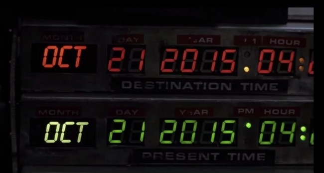 back to the future 2 future date 21st october 2015