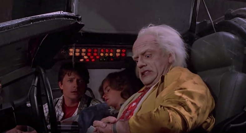 Watch weather predictions in back to the future part II
