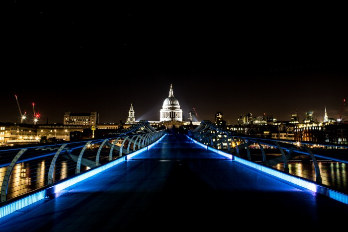 London by night: St Paul's Cathedral
