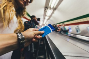 Oyster card on London Underground