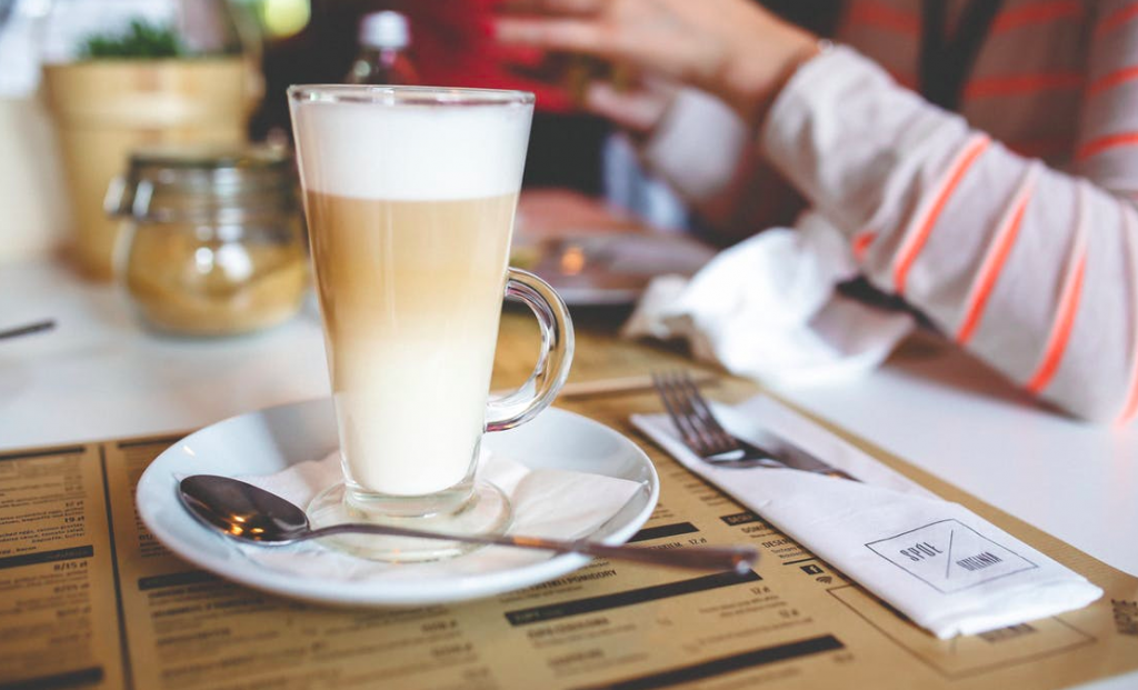 https://www.pexels.com/photo/coffee-latte-with-frothy-milk-in-tall-glass-6230/