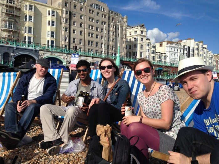 Brighton beach social with thinking bob