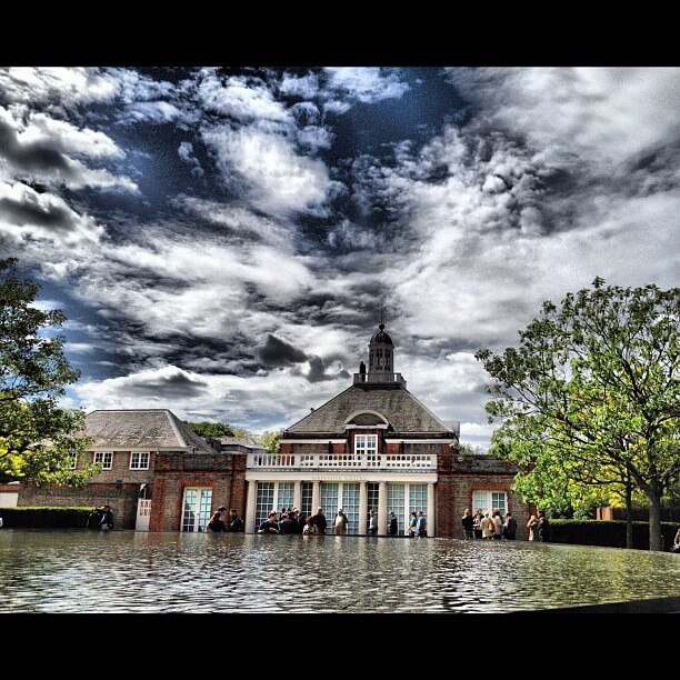 Serpentine Gallery in the rain, London