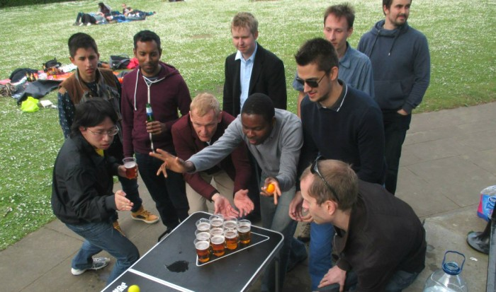 Beer pong in the park