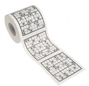 Sudoku Toilet Roll Christmas presents for geeks